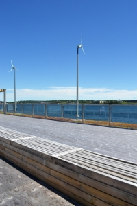 Vue du toit du Seaport Market