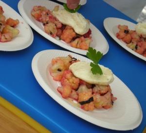 Plat du bingo culinaire au marché du foodlab de Montréal