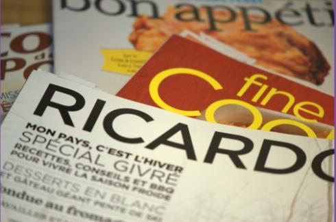 Magazines Culinaires Février 2012 - Ricardo, Fine Cooking, bon appétit, Coup de Pouce