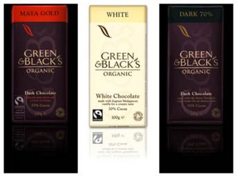 Green & Black's Chocolat - Tablettes Noir 70%, Mayan gold et Blanc