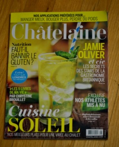 Magazine Châtelaine mois d'août 2012