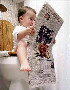 bebe au toilette