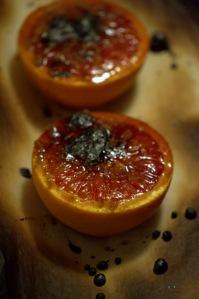 Orange sanguine façon crème brûlée dessert sans gluten