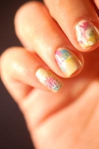 Nail stamping version fleurie
