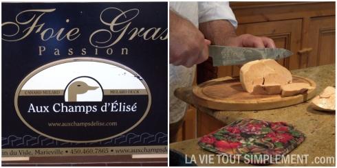 Foie gras Aux champs d'Élisé